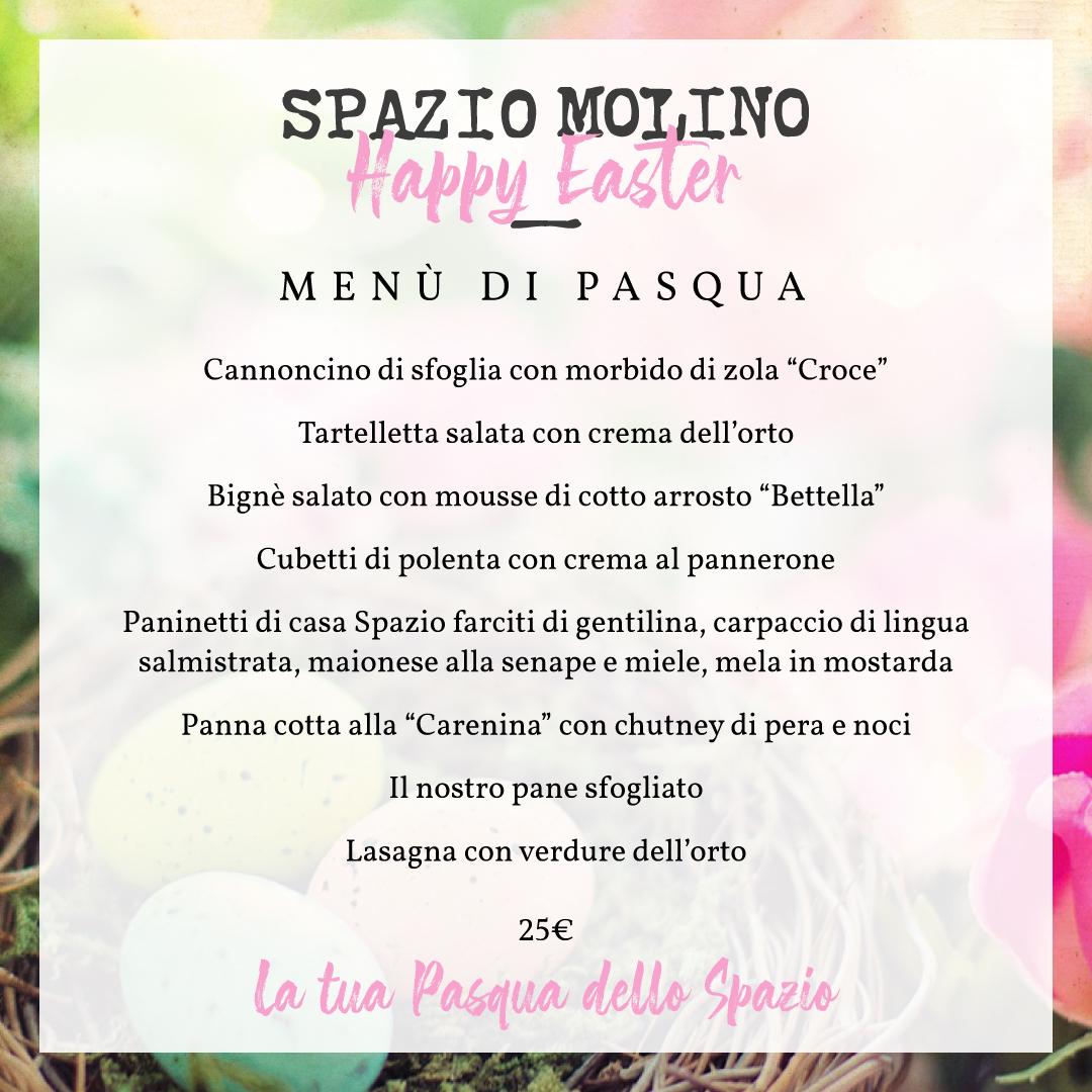 Spazio Molino - Menu di Pasqua Aprile 2021